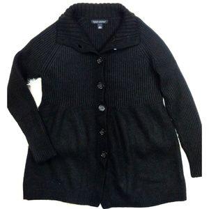 BR Chunky Rib-Knit Button Front Babydoll Cardigan!
